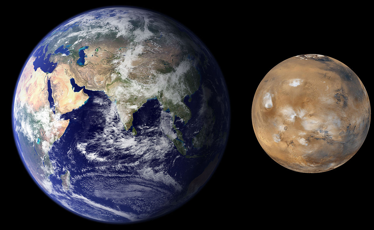 size of earth to mars - photo #13