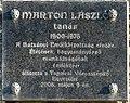 Marton László plaque Tapolca Batsányi János tér.jpg