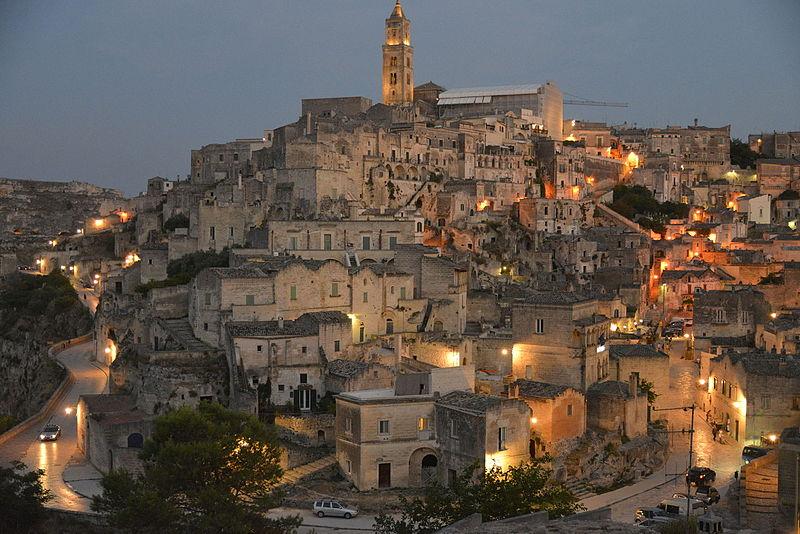 File:Matera-- al tramonto--Italy-.JPG