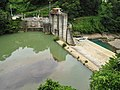 Matsuya hydroelectric power station weir and lake.jpg