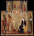 Matteo di Giovanni - Annunciation with Saints John the Baptist, Bernardine of Siena; Crucifixion, Saints Peter and Paul - Google Art Project.jpg
