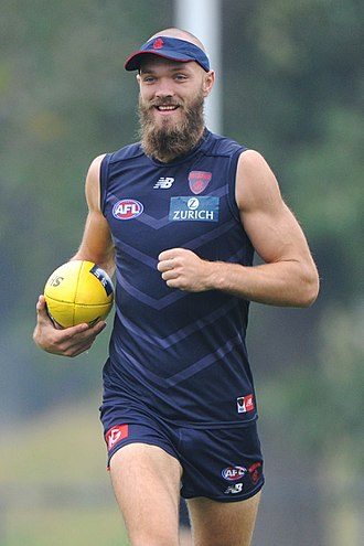 Max Gawn - Gawn with Melbourne in April 2018