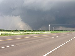 Tornado as it passed southwest of Moore