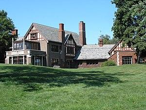 Mayslake Peabody Estate - The rear façade of Mayslake Hall