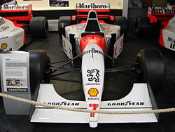 McLaren MP4/9 w muzeum Donington Grand Prix Collection.