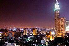 Mecca at night