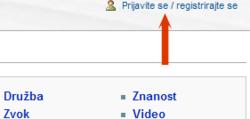 Povezava v slovenščini v zgornjem desnem kotu