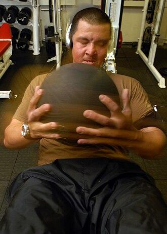 Medicine ball - Exercising with a medicine ball