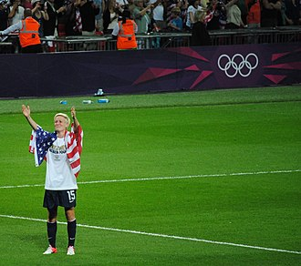 Megan Rapinoe - Rapinoe after the gold medal match at 2012 Summer Olympics; August 9, 2012