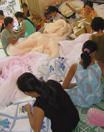 English: quilters group in Vietnam, Mekong-Qui...