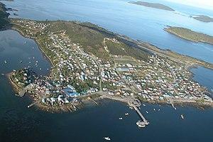 Melinka - Aerial view of Melinka