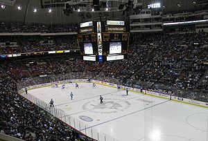 Civic Arena (Pittsburgh) - The Civic Arena during a Penguins game in 2008