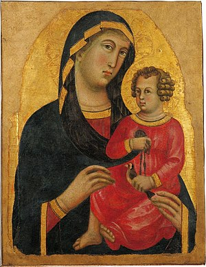 Memmo di Filippuccio - Madonna and Christ Child, National Museum of San Matteo, Pisa