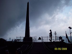 Gorkha regiments (India) - War memorial to slain Gorkha soldiers, Batasia Loop, Darjeeling