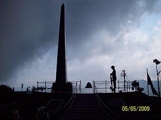 Gorkha regiments (India) - War memorial to slain Gorkha soldiers, Batasia Loop, Darjeeling