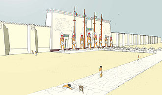 High Priest of Ptah - Reconstruction of the temple of Ptah in Memphis.