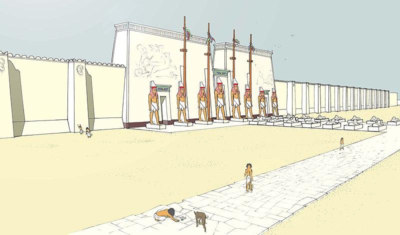 Fichier:Memphis-temple-Ptah.jpg