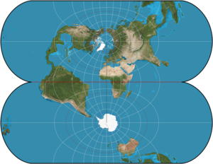 Transverse Mercator projection - Ellipsoidal transverse Mercator: a finite projection.