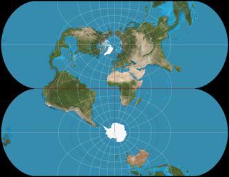 Transverse Mercator projection - Ellipsoidal transverse Mercator: a finite projection.