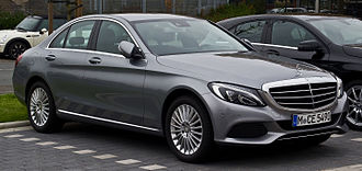 Mercedes-Benz C-Class (W205) - Image: Mercedes Benz C 180 Exclusive (W 205) – Frontansicht, 24. Oktober 2015, Münster