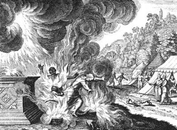 Merian Aaron's Sons, Nadab and Abihu, Destroyed by Fire