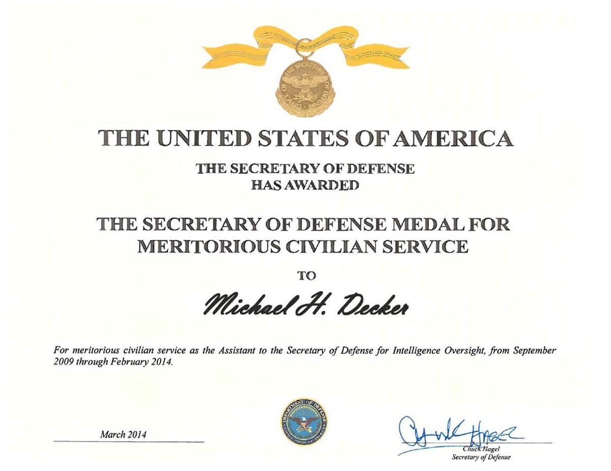 Secretary of defense meritorious civilian service award wikipedia yadclub Choice Image