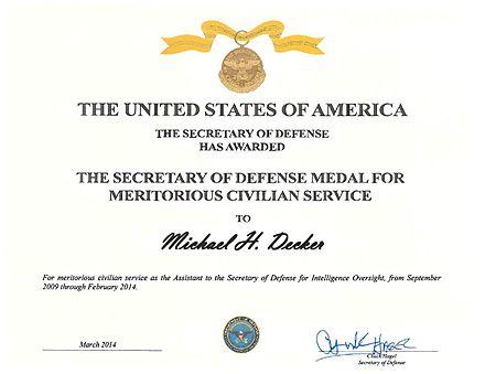 secretary of defense meritorious civilian service award wikiwand