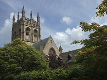 Merton College Chapel from just north of the Meadow.jpg