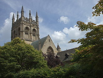 Merton College Chapel - Image: Merton College Chapel from just north of the Meadow