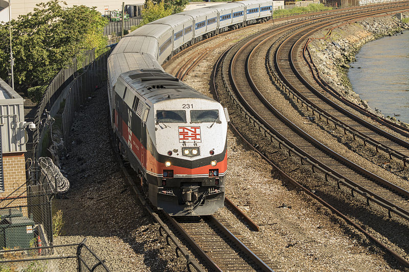 File:Metro North Locomotive powers into Marble Hill.jpg