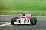 Michael Andretti - Mclaren MP4-8 during practice for the 1993 British Grand Prix (33686671295).jpg