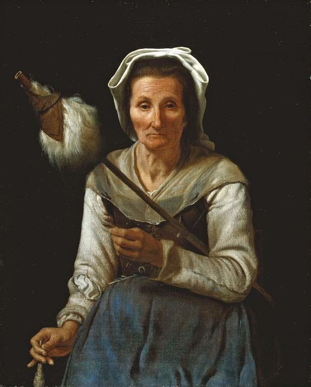 Michael Sweerts - An Old Woman Spinning