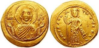 Isaac I Komnenos - Gold tetarteron of Michael VI.