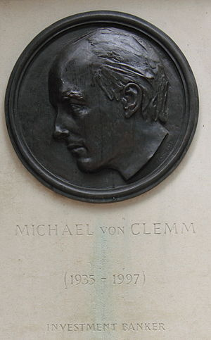 Michael von Clemm - Memorial at Canary Wharf