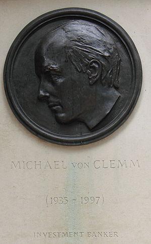 Michael von Clemm - Memorial at Canary Wharf