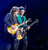 Mick Taylor and Keith Richards Rolling Stones in Hyde Park (2013).jpg