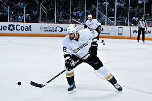 Mike Brown (ice hockey, born 1985) - Brown in a preseason game against San Jose Sharks in 2009.