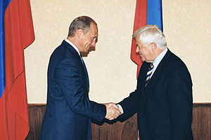 Milan Kučan - Kučan with Vladimir Putin in 2002