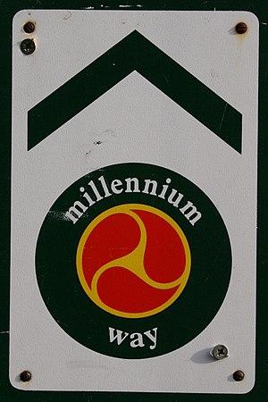 Millennium Way - Millennium Way signpost