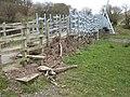 Millennium flood debris at the Millennium Bridge - geograph.org.uk - 1177981.jpg