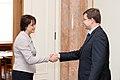 Ministru prezidents Valdis Dombrovskis tiekas ar Somijas vēstnieci Latvijā Pirko Hamalainenu (8032311153).jpg