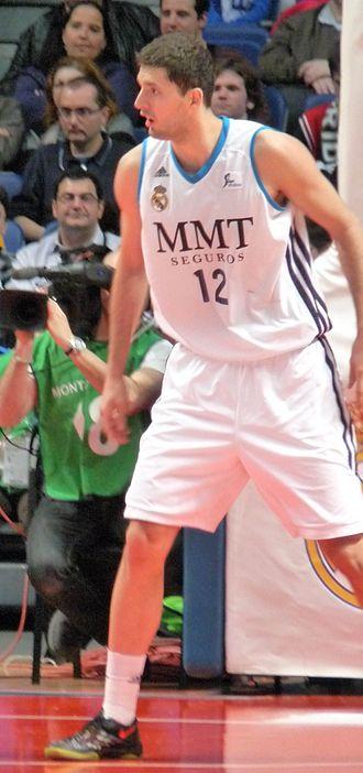 EuroLeague Rising Star - Image: Mirotic Madrid CB Sevilla marzo 2013 cropped