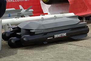 Air-to-surface missile - The RAF's Brimstone missile is a fire and forget anti-tank missile.
