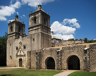 History of Texas - Mission Concepcion is one of the San Antonio missions which is part of a National Historic Landmark.