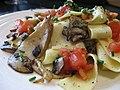 Mmmm - cremini and king oyster mushrooms with tagliatelle.jpg
