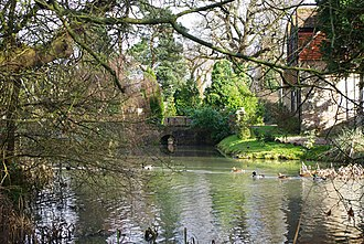 Grade II* listed buildings in Tandridge (district) - Image: Moat, Burstow Lodge (geograph 1681977)