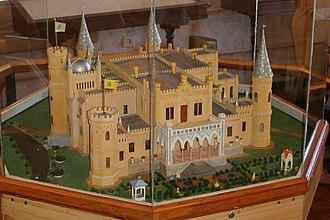 Popov Manor House - Image: Model of Castle of Popov