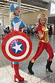 Montreal Comiccon 2015 - Captain America and Iron Man (19447380932).jpg