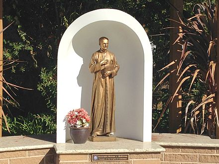 Monument of Michael J. McGivney, Founder of Knights of Columbus, at the Church of the Ascension in Saratoga, California, USA Monument of the Venerable Michael J. McGivney, Founder of Knights of Columbus, at the Church of the Ascension, San Jose, CA USA.JPG