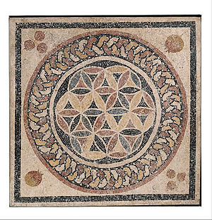 Overlapping circles grid - Image: Mosaic floor from a bathhouse in Herod's palace Google Art Project
